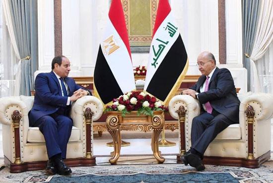 الرئيس السيسي والرئيس العراقي (6)