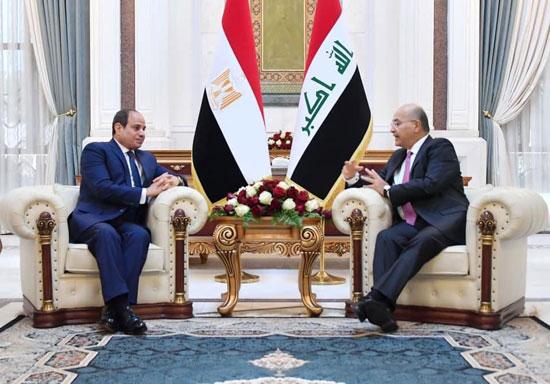 الرئيس السيسي والرئيس العراقي (9)