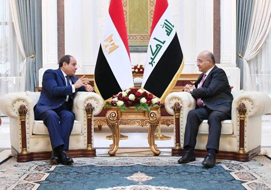 الرئيس السيسي والرئيس العراقي (8)