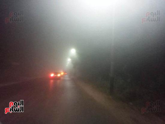 شبورة على طريق كفر الشيخ دسوق