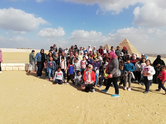Picture at the pyramids
