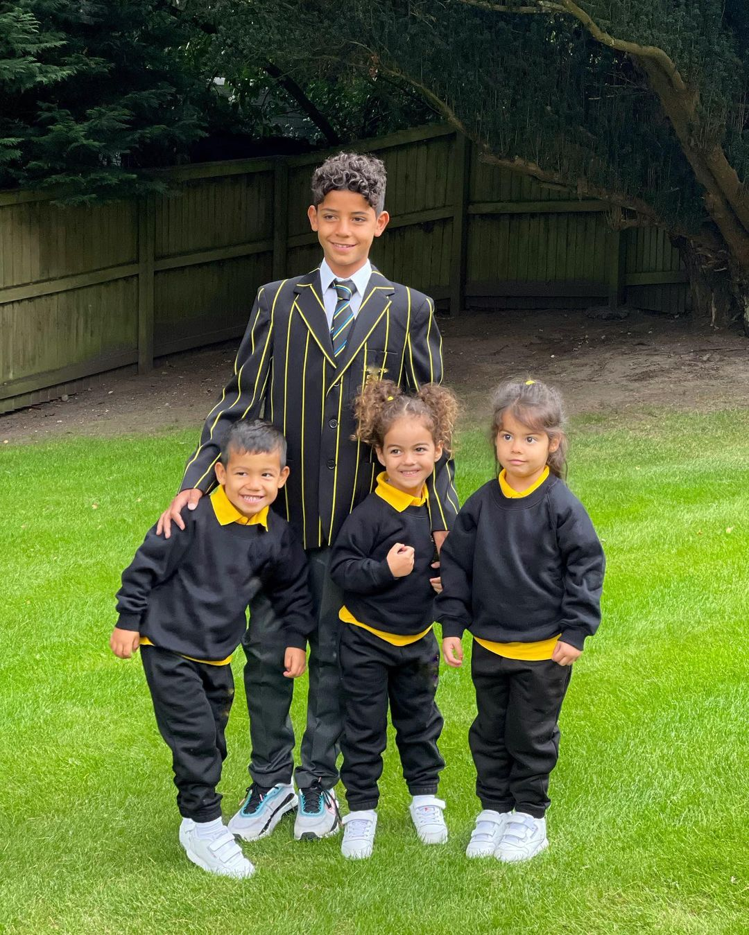 Ronaldo's children on the first day of school