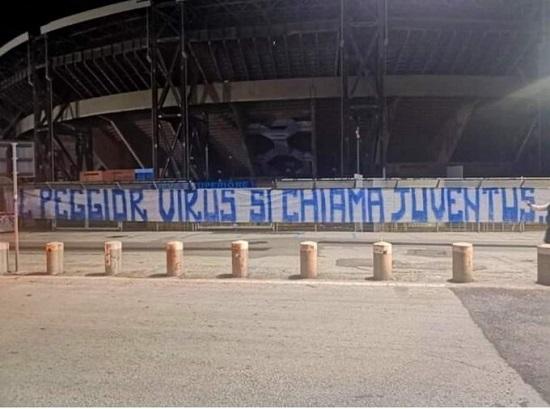 Naples fans banner