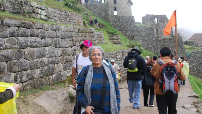 Her trip in Peru