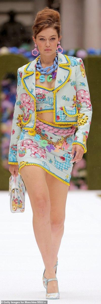Gigi Hadid in fashion week