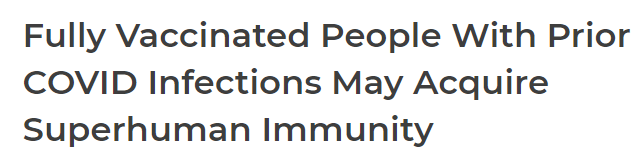 Vaccinated people and super immune