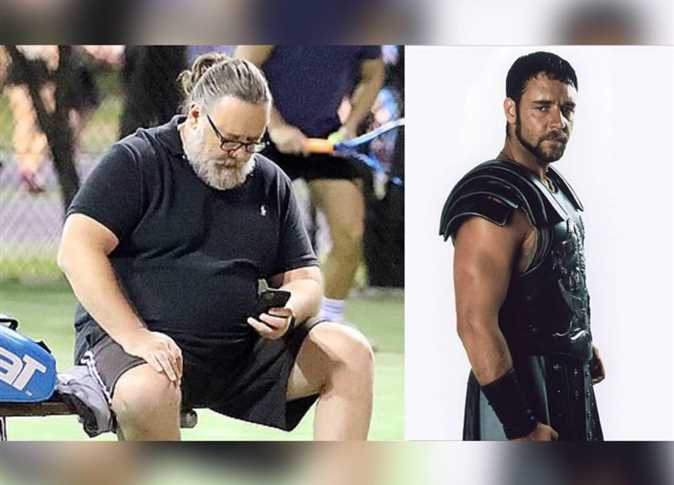 Russell Crowe before and after weight gain