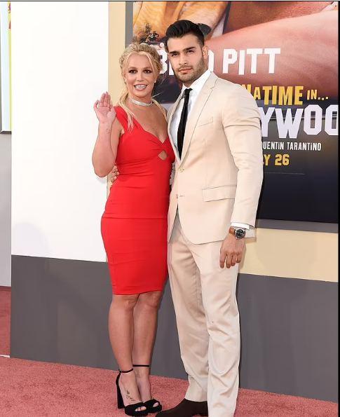 Britney Spears and her boyfriend