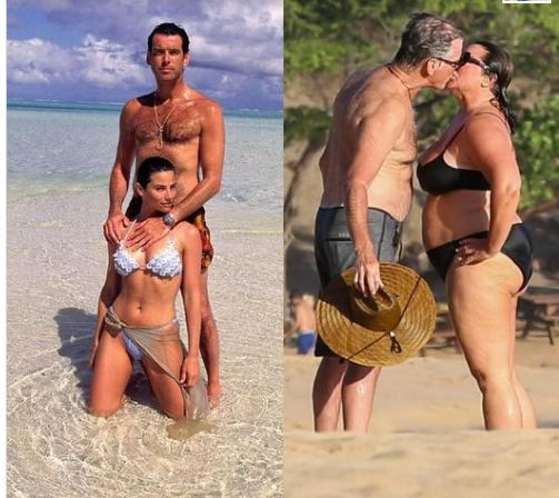 Pierce Brosnan and his wife