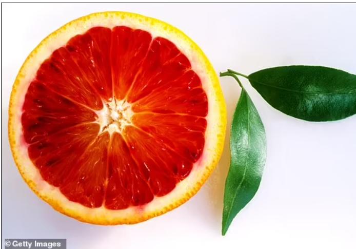 البرتقال ذو اللون الارجوانى