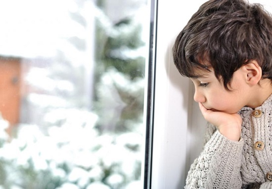 Child feeling lonely