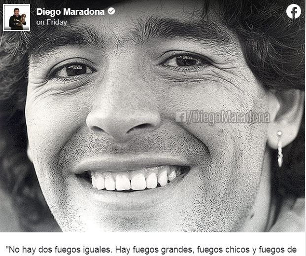 Maradona is on Facebook