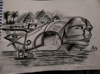 لوحة عن الحضارة الفرعونية