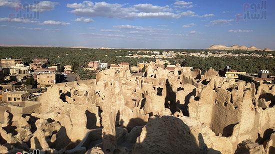 شالي القديمة تتوسط واحة سيوة