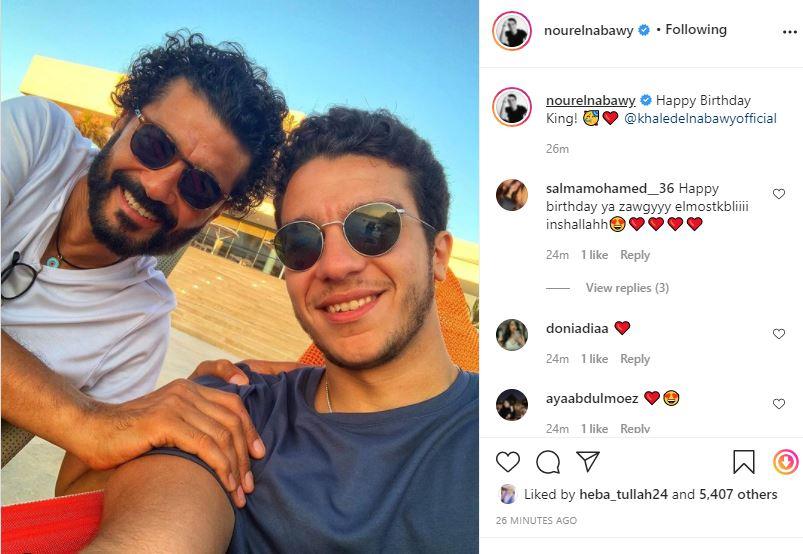 خالد النبوي وابنه