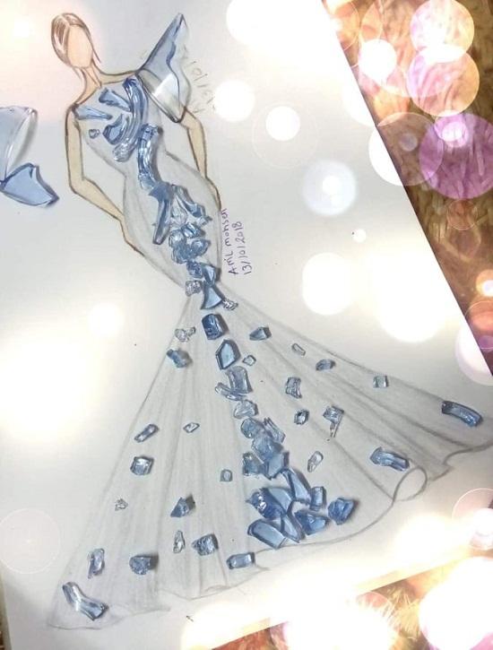Glass cut dress