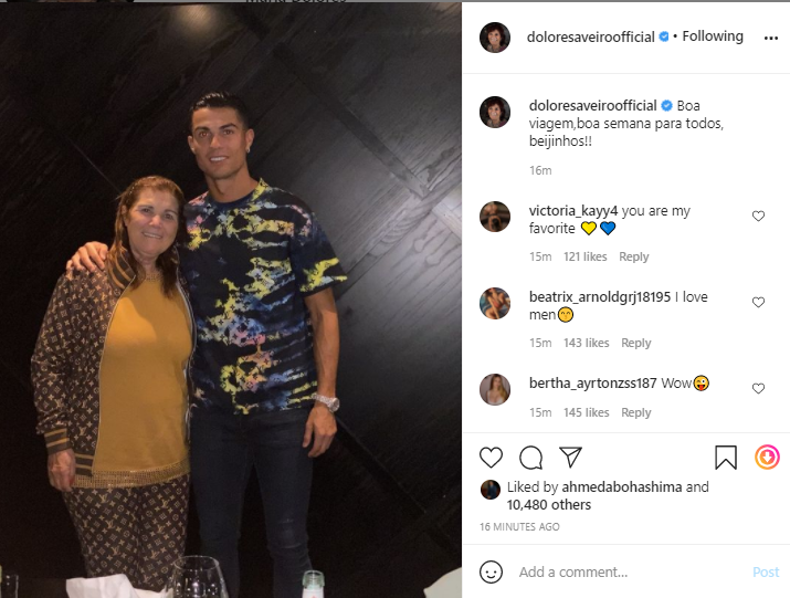 Ronaldo and his mother