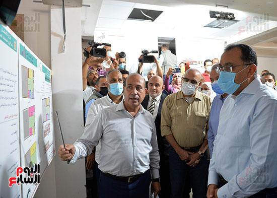 الدكتور مصطفى مدبولى رئيس الوزراء يتفقد قرى مركز شيبين القناطر (18)