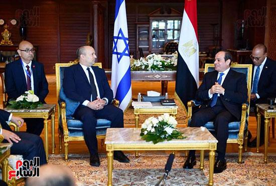 لقاء الرئيس عبد الفتاح السيسى ورئيس وزراء اسرائيل (2)