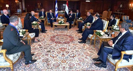لقاء الرئيس عبد الفتاح السيسى ورئيس وزراء اسرائيل (8)