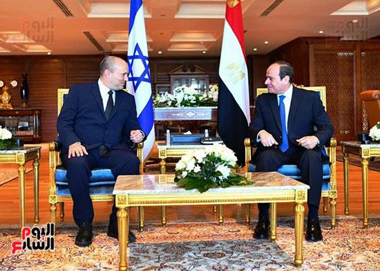 لقاء الرئيس عبد الفتاح السيسى ورئيس وزراء اسرائيل (1)