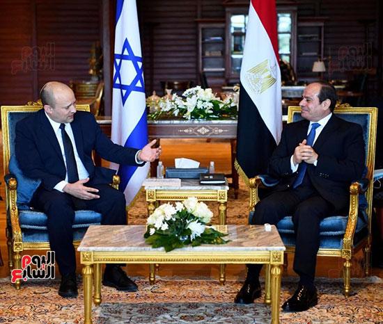 لقاء الرئيس عبد الفتاح السيسى ورئيس وزراء اسرائيل (10)