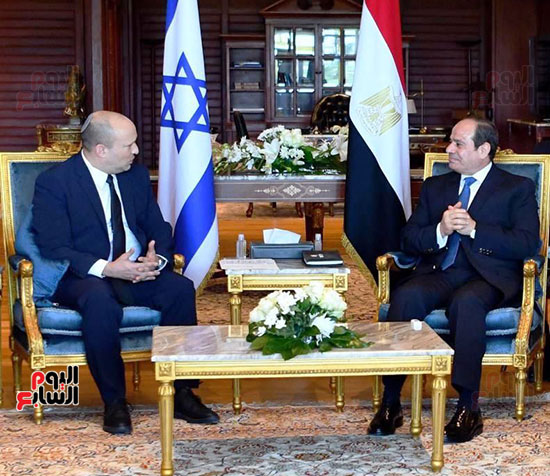 لقاء الرئيس عبد الفتاح السيسى ورئيس وزراء اسرائيل (5)