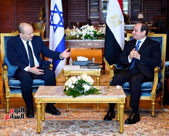لقاء الرئيس عبد الفتاح السيسى ورئيس وزراء اسرائيل (12)