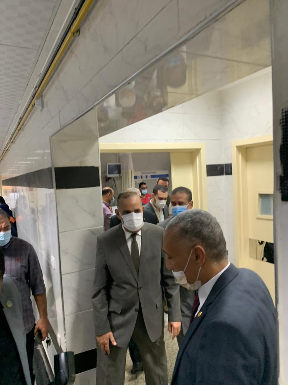محافظ كفر الشيخ بمستشفى شيبين الكوم