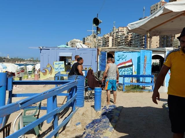 احد شواطئ الإسكندرية