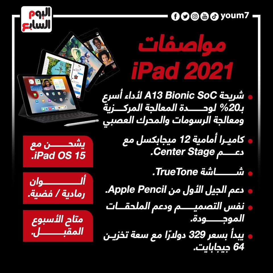 مواصفات 2021 iPad