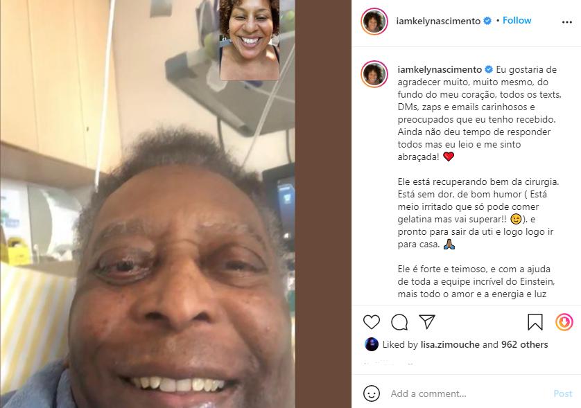 Pele's daughter on Instagram