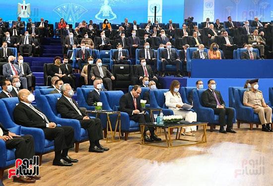الرئيس السيسي فى مؤتمر إطلاق تقرير التنمية البشرية فى مصر