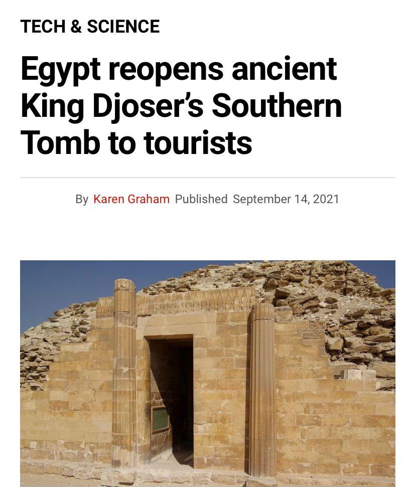 افتتاح  مشروع ترميم المقبرة الجنوبية للملك زوسر يتصدر أخبار الصحف ووكالات الأنباء العالمية (6)