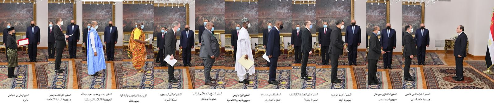 الرئيس السيسي يتسلم أوراق اعتماد أربعة وعشرين سفيرًا جديداً (2)