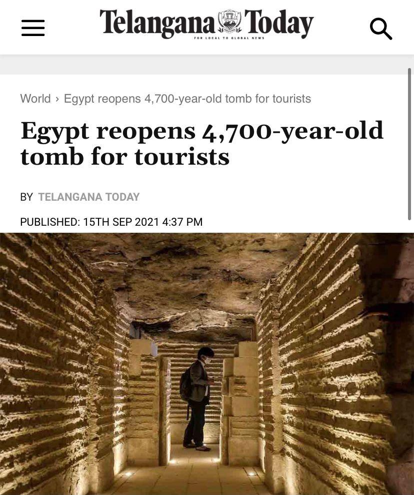 افتتاح  مشروع ترميم المقبرة الجنوبية للملك زوسر يتصدر أخبار الصحف ووكالات الأنباء العالمية (3)