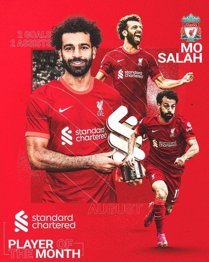 محمد صلاح لاعب الشهر