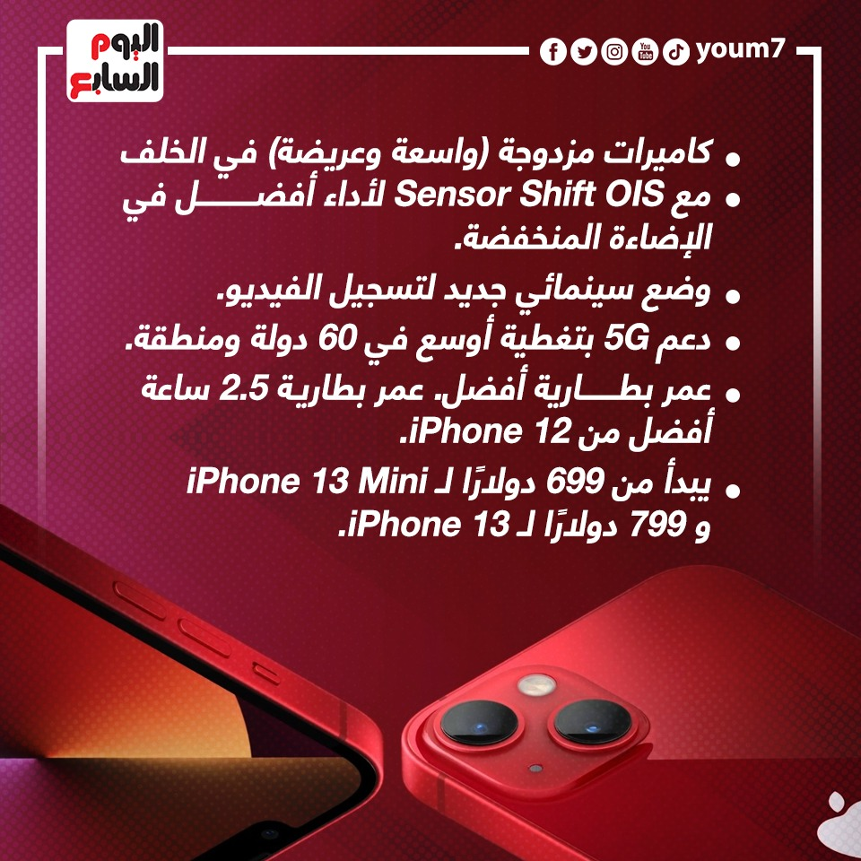 مميزات ومواصفات iPhone 13 وiPhone Mini