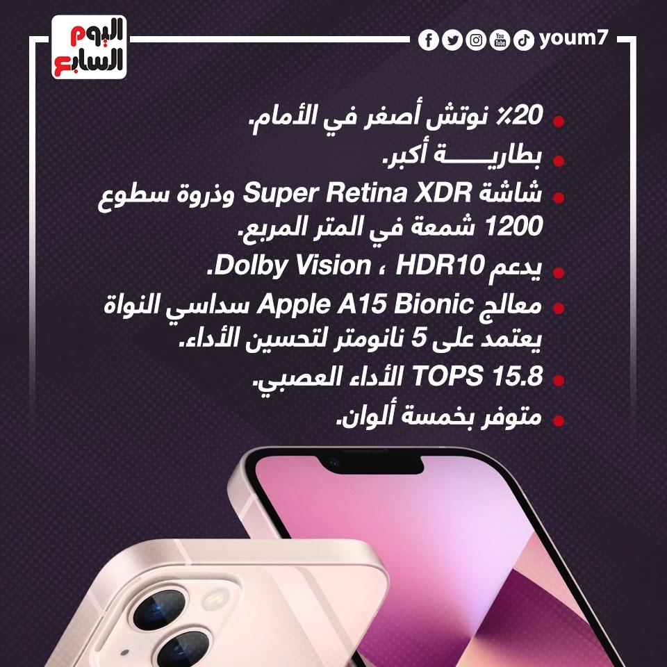تفاصيل iPhone 13 وiPhone Mini