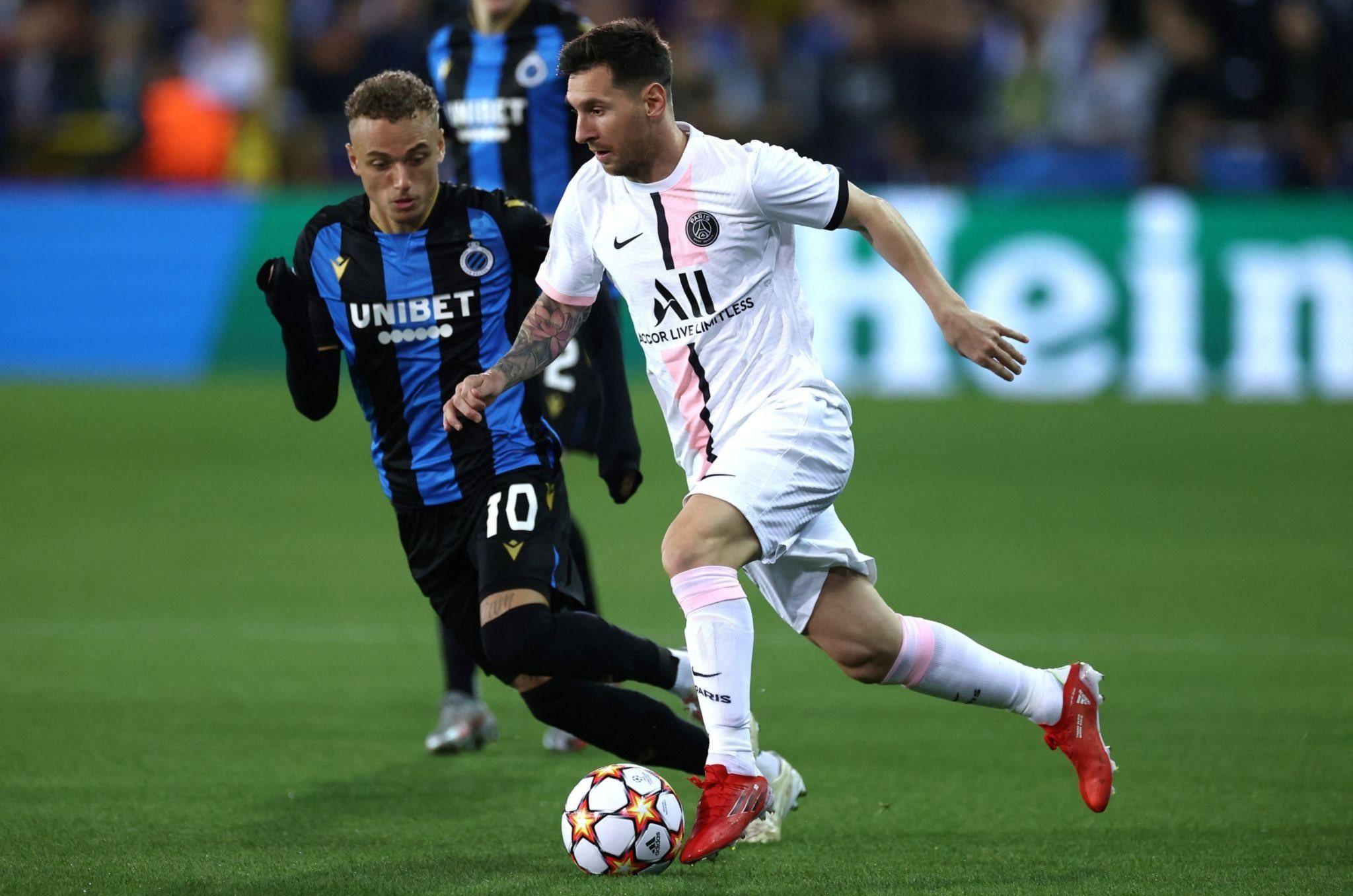 Messi attacks Club Brugge