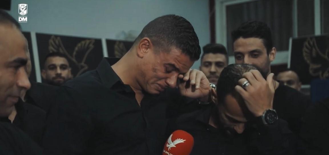 سعد سمير يبكى فى وداع الاهلى (4)