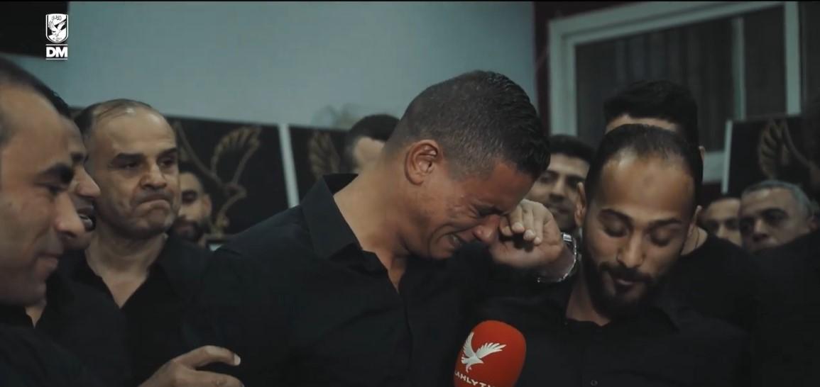 سعد سمير يبكى فى وداع الاهلى  (1)