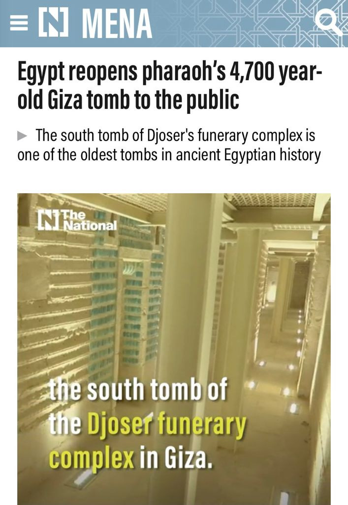 افتتاح  مشروع ترميم المقبرة الجنوبية للملك زوسر يتصدر أخبار الصحف ووكالات الأنباء العالمية (4)