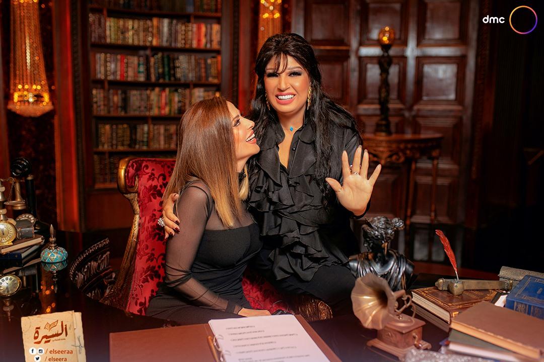 Fifi Abdo and Wafaa Al Kilani
