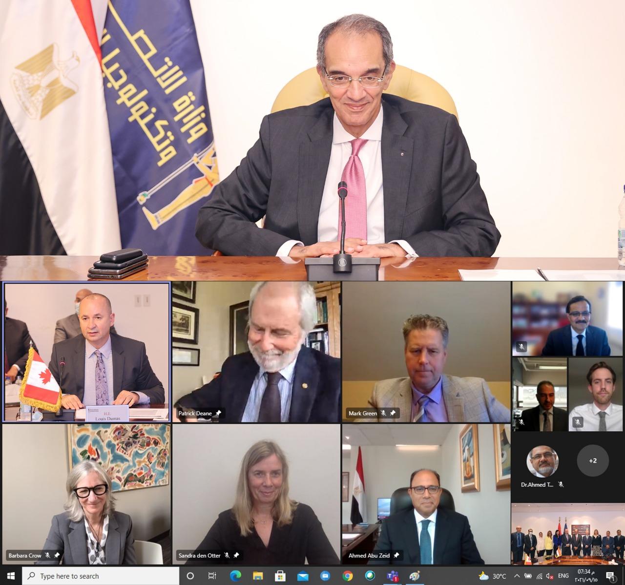 وزير الاتصالات عمرو طلعت يشهد توقيع اتفاقية مع أكبر جامعة كندية عبر الفيديو كونفرنس