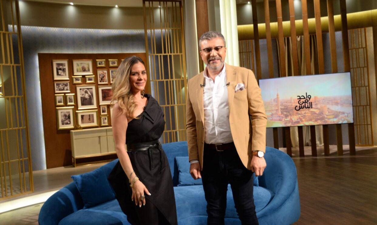 الفنانة نادين مع عمرو الليثى (2)