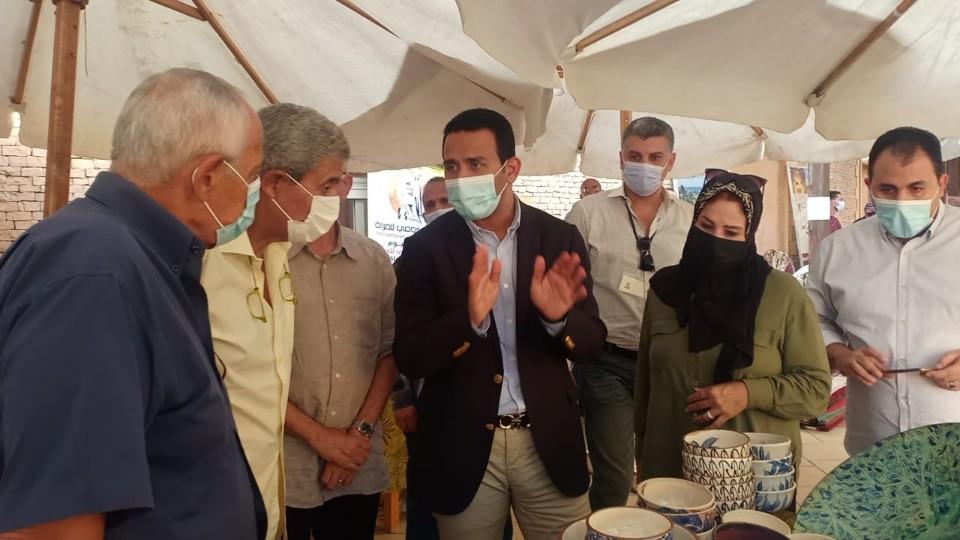 افتتاح الدكتور محمد عماد للمعرض