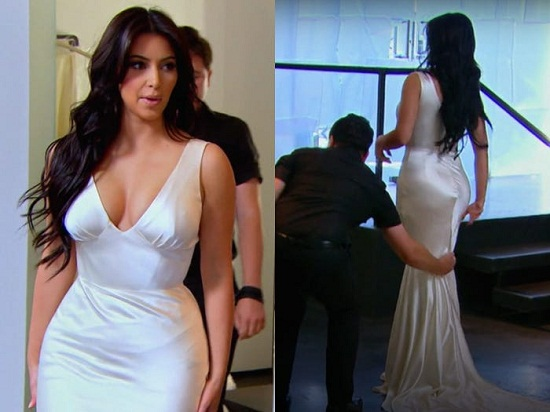 Kim's third dress