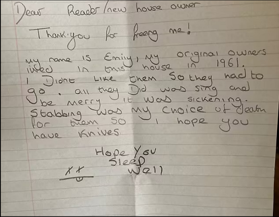 A man is shocked after buying his new home and the reason is a doll (2)