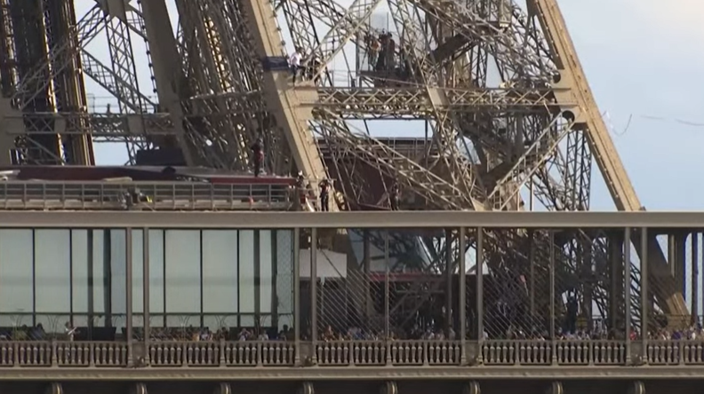 The journey starts from the Eiffel Tower